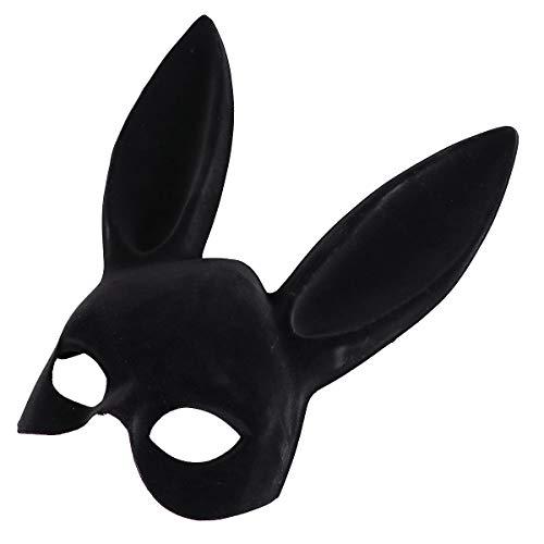 BESTOYARD Erwachsene Bunny Maske Frauen Maskerade Kaninchen Maske Bunny Kaninchen Maske für Geburtstag Party Ostern bar kostüm Cosplay zubehör (schwarz)