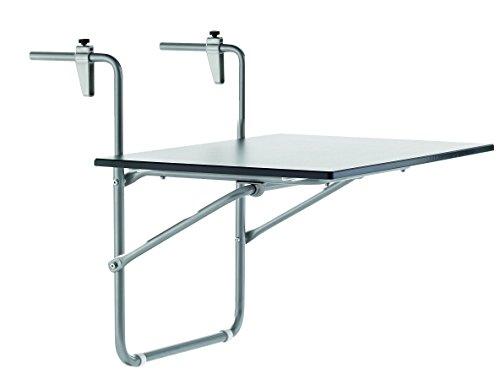 SIEGER 1510-50 KT Table de Balcon Rabattable avec Plateau Décoré Puroplan/Graphite/Ardoise Anthracite