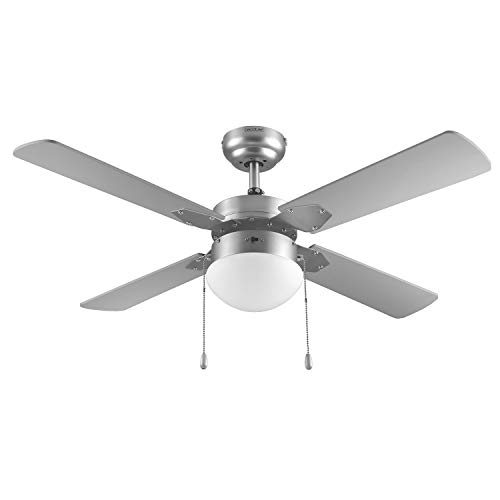 Cecotec Ventilador de Techo ForceSilence Aero 450. 106 cm de Diámetro, Luz, 4 Aspas Reversibles, 3...
