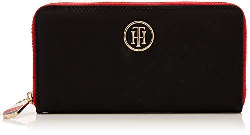 Tommy Hilfiger Damen Poppy Lrg Za Wallet Geldbörse, Schwarz (Black), 2x10x19 cm