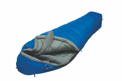 ALEXIKA Schlafsack Mountain Compact, rechte Reißverschluss, blau / grau, 80(Breite oben)x210(Länge) x55(Breite unten), 9223.0105R