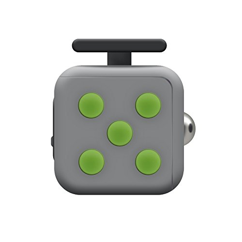 Kayos Anti Stress Fidget Cube, Reduces Stress and Anxiety for Children and Adults, Ideal for ADHD, ADD, OCD and Autism (Grey-Green)