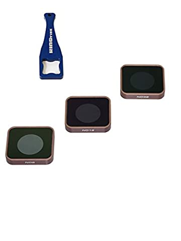 Polarpro GoPro Hero5Cinema Series of Tide Aluminium Shutter Collection Filter 3Pack with Key