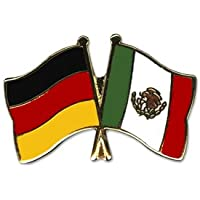 Yantec Freundschaftspin 2er Pack Deutschland Kasachstan Pin Anstecknadel Doppelflaggenpin