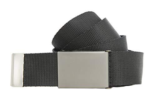 Stoffgürtel viele Farben 4cm breit 160cm XXL Überlänge Gürtel selber kürzen (160cm, schwarz starke Schnalle)