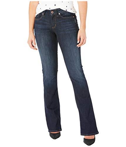 Silver Jeans Co. Damen Suki Curvy Fit Mid Rise Slim Bootcut Jeans, Classic Dark Wash, 28Wx 33L (Silver Jeans Damen Suki)