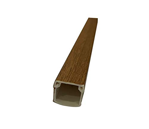 Canal madera adhesiva 16x16 imitación Madera Nogal en tiras de 2m