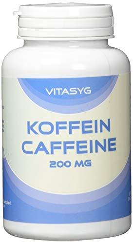 Vitasyg Koffein Caffeine Hochdosiert, 200 mg, 250 Kapseln, 1er Pack (1 x 125.3 g)