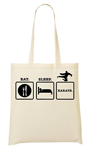 Eat Sleep Karate Sac Fourre-Tout Sac À Provisions