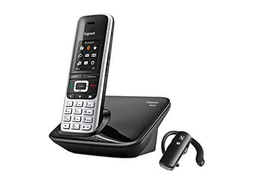 """Gigaset Teléfono inalámbrico, Manos Libres, Bluetooth, Auricular Sennheiser EZX70, Pantalla en Color 1,8"""", 500 contactos, Toma Auriculares. S850+ BT."""
