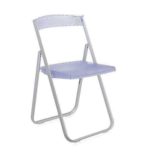 Kartell Honeycomb chaise pliante transparente bleue