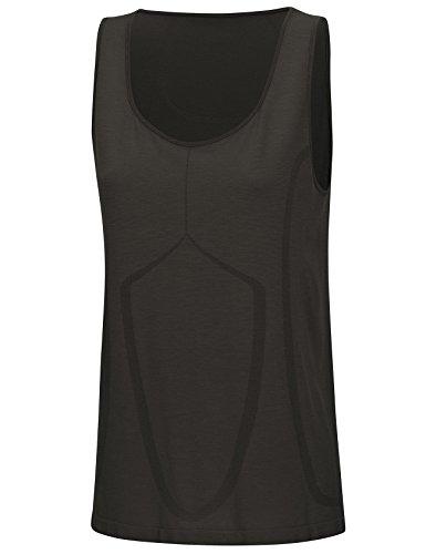SleepShirt SUBRA – Respirant haut de pyjama en soie pour femmes (sans manche) Noir