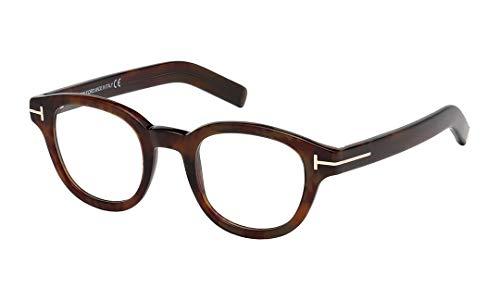 Tom ford ft5429, occhiali da sole uomo, rosso (avana rossa), 47.0