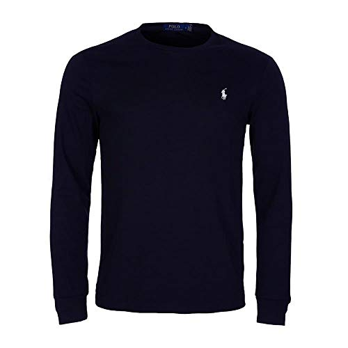 Polo Ralph Lauren Longsleeve Crew Neck Shirt Langarm Shirt Sleep Top L Navy (002)