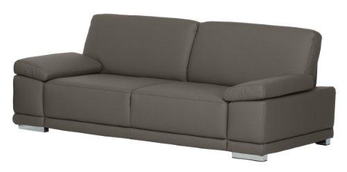 Cavadore 2,5-Sitzer Sofa Corianne in Kunstleder / Kleine Leder-Couch in hochwertigem Kunstleder und modernem Design / Mit Armteilfunktion / Größe: 191 x...