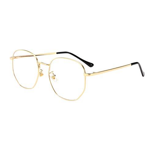 Preisvergleich Produktbild Poonkuos Metall Rahmen Eyewear - Blue Light Filter Anti Fatigue Gläser Computer Phones Leser Brille Retro Stil Männer Women Goggle