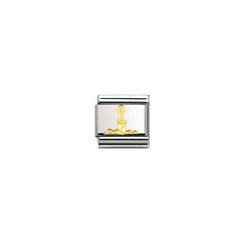 Nomination Composable Classic RELIEF Edelstahl und 18K-Gold (Leuchtturm) 030122