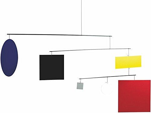 Flensted Mobiles - Circle Square - (Guggenheim) - Mobile - Windspiel - 45 x 105 cm
