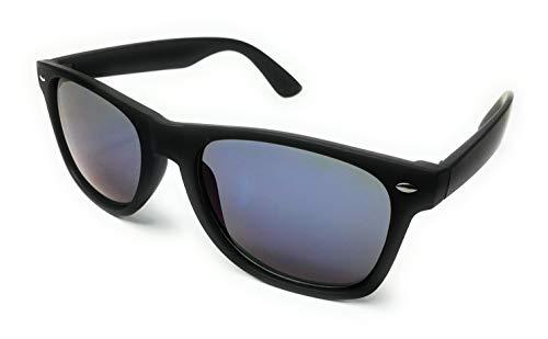 KGM Accessories Vintage Wayfare-Sonnenbrille, Gummi-Rahmen, reflektierend