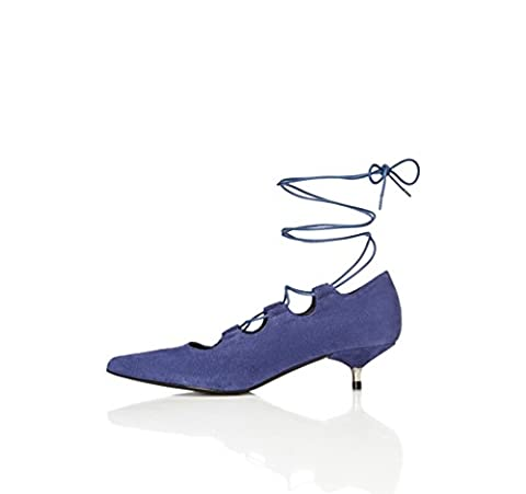 FIND Escarpins Petits Talons Chaussures Femme, Bleu (Blue), 37 EU