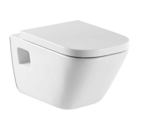 Roca A346477000 - Inodoro porcelana suspendido, colección The Gap, color blanco (asiento y tapa no incluido)