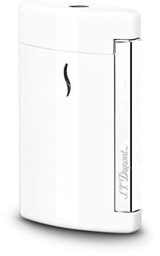 Briquet S.T. Dupont Minijet, Laque, Blanc, Attributs Chromés, 010506