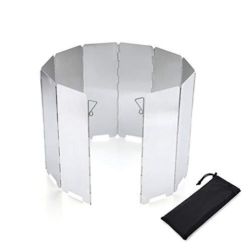 WING Faltbar Aluminium Windschutz, Leichter Faltbarer Windschutzscheibe Windscreen, Outdoor Camping Gaskocher Windschutz für Camping Kocher, Outdoor Grill, Gaskocher,24×83cm