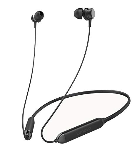 Lenovo HE15 Wireless in-Ear Headphones Bluetooth 5.0 in-Built Mic With Extra BassRated IPX5 Waterproof and Sweatproof (Black)