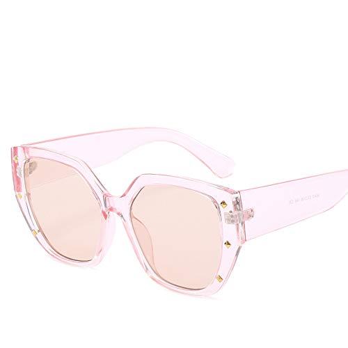 Yangjing-hl Big Frame Brille Sonnenbrille Sterne Dekoration net rote Sonnenbrille Pudermodelle