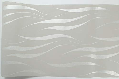 Carta Da Parati Moderna Argento : Hanmero carta da parati moderna argento e grigio semplice senza