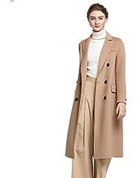 d9913b31c6 Automne Et Hiver Nouveaux Haut De Gamme Femmes Double Manteau Long  Cachemire Manteau Femme Couleur Unie
