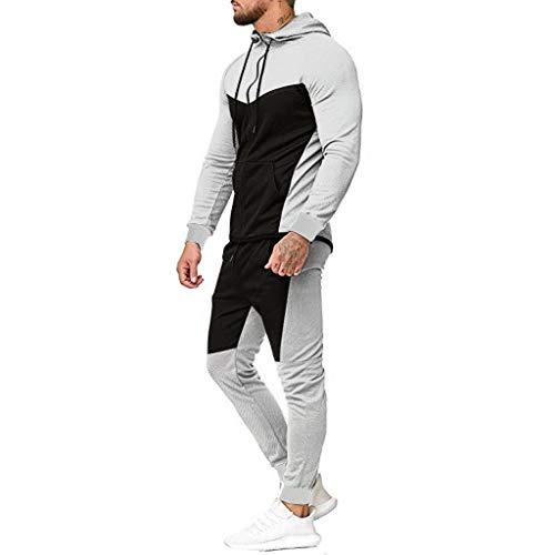 ReißVerschluss Sweatshirt Freizeit Langarm Outdoor Jogging Fitness Sweater Fitnesshose 2 Teiliges Set Sportanzug Trainingsanzug Streetwear MäNner Jogginganzug Hose Tops Hosen Sets