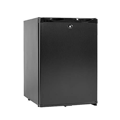 SMAD Absorber-Kühlschrank 12V und 230V Absorption für Camping Schlafräume RV LKW Truck Büro Hotel und zu Hause Kühlschrank mit Schloss Minibar 40L Schwarz -