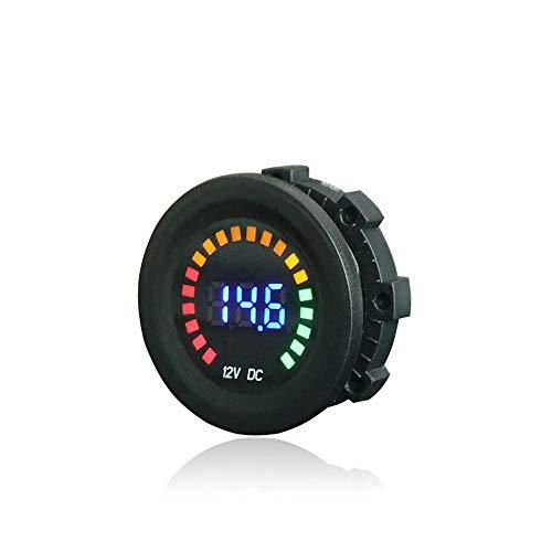 Wokee LED Panel Spannungsanzeige USB Ladegerät 12 V Wasserdicht Digital Voltmeter Messbereich Für Auto Motorrad LKW Boot Blau