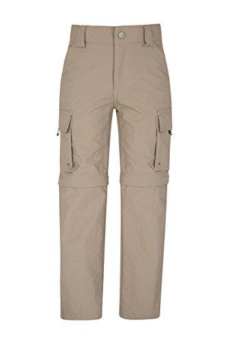Mountain Warehouse Steve Backshall Trekker Wandelbare Hose für Kinder - Schnelltrocknende Kinderhose, leichte Sommerhose, ausbleichsichere Outdoor-Hose - Für Reisen Light Beige 116 (5-6 Jahre)
