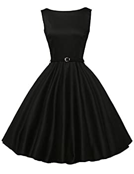 Classy Vintage 1950's Audrey Hepburn Style Rockabilly Swing Picnic Party Prom Dress Medium Color 13 0