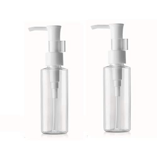 2pcs 100ml / 3.5oz bouteilles en plastique transparent ménage voyage bouteille plate cosmétique pompe portable pompe maquillage accessoires pour maquillage démaquillant lotion