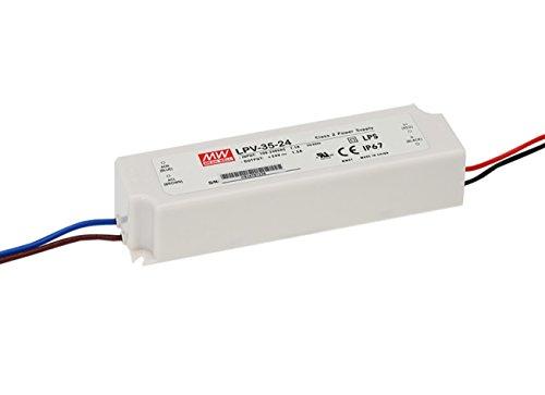 Preisvergleich Produktbild MEANWELL schaltnetzteil (wasserdichte Led - Power) LPV-35-15 35w 15V2.4A( 6-Pack)