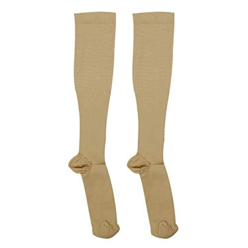 Heaviesk Männer Frauen Komfortable Strümpfe Slim Fit Relief Weiche Unisex Miracle Copper Anti-Fatigue Kompressionsstrumpf Shaping Stocking (S/M) -