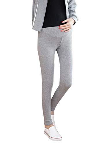 64e760071 BESBOMIG Otoño Invierno Pantalones de Maternidad Over Bump Polainas -  Cómodo Tramo Más Paño Grueso y