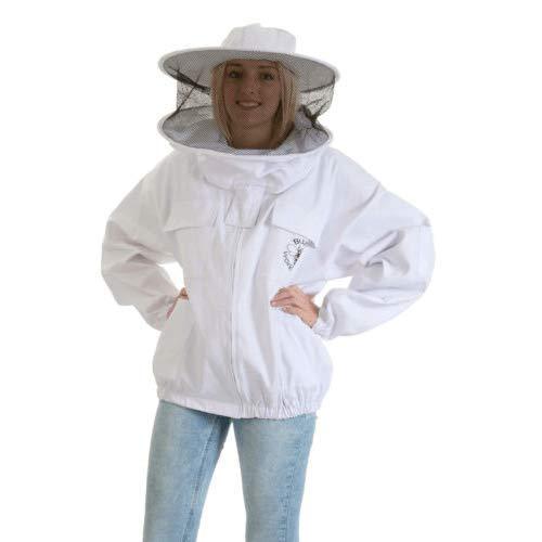 Beekeeping Supplies UK Veste Apiculture avec Voile de clôture, S (Hauteur jusqu'à 165 cm/Poitrine jusqu'à 91 m)