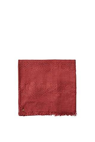 ESPRIT 096EA1Q002, Echarpe Femme, Rouge (GARNET RED), Taille unique (Taille