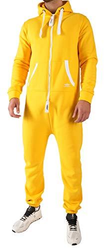 Kostüm Jumpsuit Gelber - LG4 Finchman Herren Jumpsuit Jogging Anzug Trainingsanzug Overall Gelb M