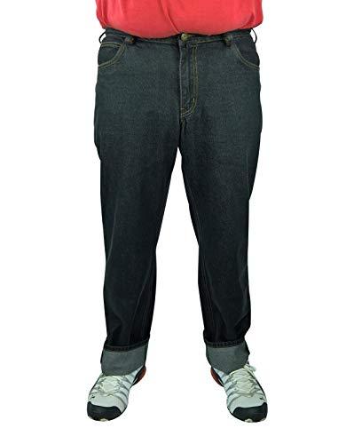 Herren 5-Pocket Jeans 60, 62, 64, 66, 68, 70, XL, XXL, 3XL, 4XL, 5XL, 6XL, Große Größen, Übergröße, Big Size, Plus Size (66, Schwarz)