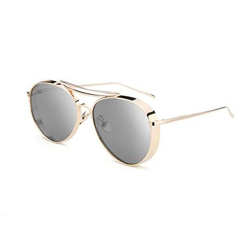 BYCSD Sonnenbrille Unisex Runde Retro Sonnenbrille Paar Brille, Breite/Schmale Kante Optional (Farbe : 010 -Narrow)