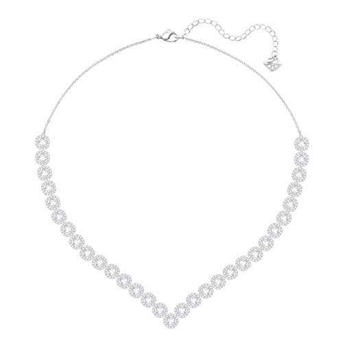 Swarovski Angelic Square Halskette, Groß, Weiss, -