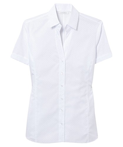 Eterna Chemisier à Manches Courtes Modern Classic Uni Blanc