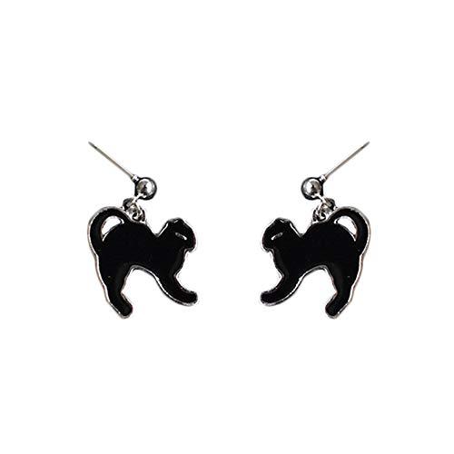 Wicemoon Ohrring Halloween Lustige Ohrringe Erschrockene Schwarze Katze Anhänger Schmuck