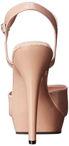Pleaser Damen Lip 109 Sandalen, Schwarz Nude/Nude