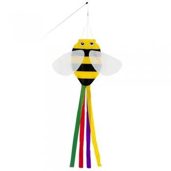 Windsack - BUMBLEBEE - UV-beständig und wetterfest - Abmessungen: 15x60cm - inkl. Fiberglasstab und Wirbelkarabiner